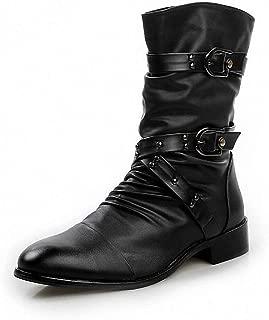 Giles Jones Men's Combat Boots Autumn Winter Non-Slip Shockproof Snow Motorcycle Boots