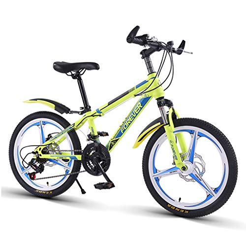 Children Bicycle Boys And Girls On Bicycles Student Bicycle Mountain Bike Variable Speed Bicycle Gifts For Children 20 Inches 13-20 Years Old Children'S Bicycle ( Color : Green , Size : 20inch )