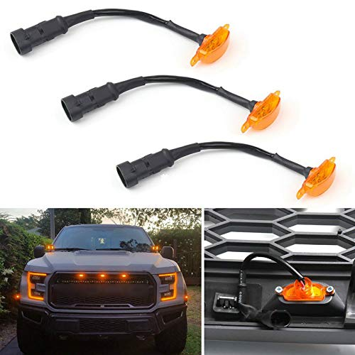 Autowell Front Bumper Hood Grille LED Light For Ford F150 F250 F350 Raptor 2004-2019 3Pcs