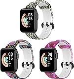 Gransho Cinturino per Orologio compatibile con Xiaomi Mi Watch Lite/Redmi Watch, Cinturino di Ricambio in Silicone per Orologio Sportivo (3-Pack I)