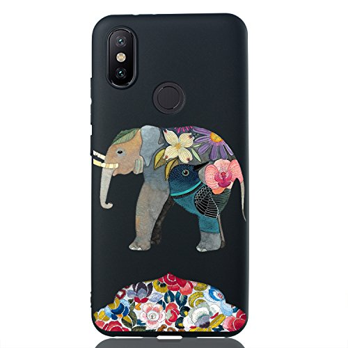 Mosoris Funda Xiaomi A2, Carcasa Suave TPU Negro Silicona para Xiaomi MI A2 / 6X Ultra Delgado Protectora Caso Anti-Aranazos Espalda Movil Celular Cubierta Absorcion de Impactos Trasera Caja