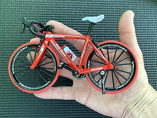 BicycleCrazy Deko Fahrrad Miniatur 1:10 (Rennrad rot)