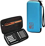 BOVKE for Graphing Calculator Texas Instruments TI-84 / Plus CE Hard EVA Shockproof Carrying Case Storage Travel Case Bag Protective Pouch Box,Blue
