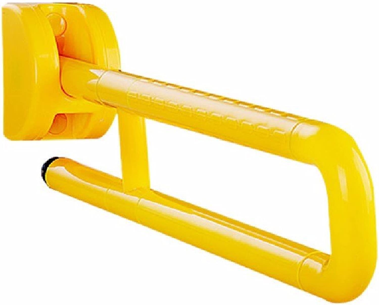 WAWZJ Handrail Toilet Handrails Plastic Pedestal Circular Elderly Toilet Stool Handrail Barrier Handrails,Yellow