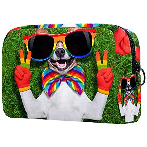 Bolsa Maquillaje Almacenamiento organización Artículos tocador cosméticos Estuche portátil Perro Gay de la Cara para Viajes Aire Libre