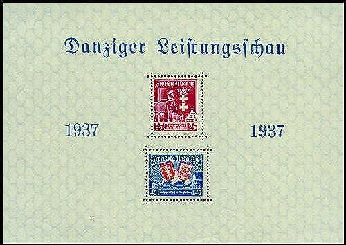 Goldhahn Danzig Block 3 postfrisch  Briefmarken für Sammler