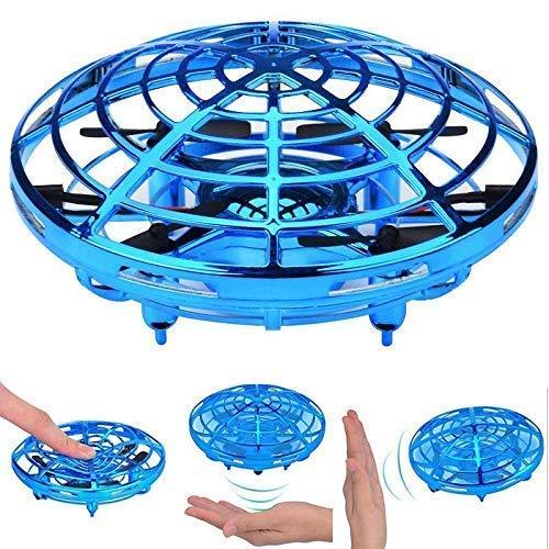 ラジコン ドローン 子供と大人用ドローン UFO ミニドローン ジェスチャー制御 自動回避障害ホバリング機能ミニドローン お誕生日 ギフト (青)