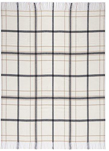 biederlack Plaid Squares and Plains | Karo Natur - 130 x 170