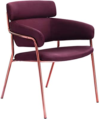 UVANART FIN Upholstered Dining Chair - Violet - 81 x 62.5 x 62.5 cm - Y129AE
