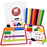 Gamenote Math Cubes Manipulatives with Activity Cards - Number Blocks Counting Toys Snap Linking Cube Math Counters for Kids Kindergarten Learning Activities
