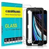 omitium Protector Pantalla para iPhone SE 2020, [3 Pack] iPhone 8/ iPhone 7 / iPhone 6S / iPhone 6 Cristal Templado [ [Marco Instalación Fácil] Sin Burbujas Dureza 9H Vidrio Templado iPhone SE 2020