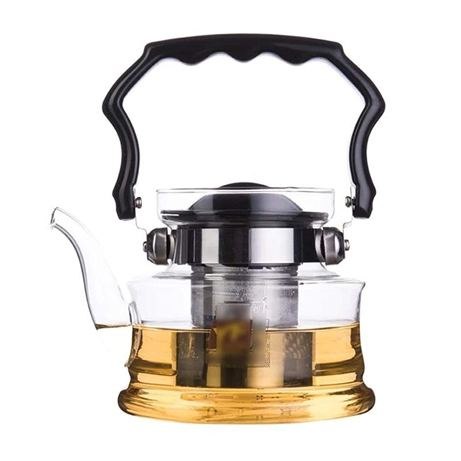 Teapots Coffee Servers Teapot Glass Filter High Temperature Household Teapot Heat Removable Environmental Teapot Ice Coffee Maker (Color : Clear, Size : 1200ml)