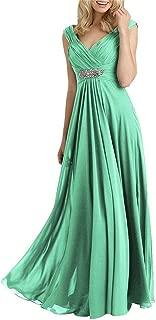 2019 Mother of The Bride Dresses V Neck Evening Dresses Long Bridesmaid Dresses