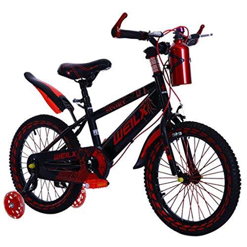 """Kinderfahrrad Kinderfahrrad, Junge Kinder Fahrrad In Größe 12"""" 14"""" 16"""" 18"""" Geeignet For 3-10 Jahre Kleinkind Trainning Bikes Mit Bracket (Color : Red, Size : 16'')"""