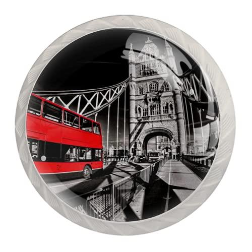 Manijas para cajones Perillas para gabinetes Perillas Redondas Paquete de 4 para armario, cajón, cómoda, cómoda, etc. - Puente de la torre famoso de Londres