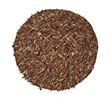"""Home Weavers Leather Shaggy Collection Soft Rug, 72"""" Round, Brown/Saddle"""