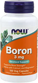 NOW Supplements, Boron 3 mg, 100 Capsules