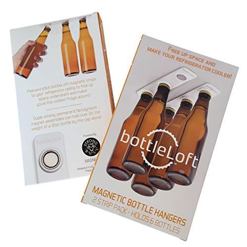 BottleLoft by Strong Like Bull Magnets, the original Magnetic Bottle Hanger, 2 Strip Pack (holds 6...