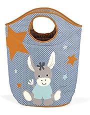Sterntaler Cesta para la colada, Burro Emmi, Para los juguetes o ropa, para la colada, Azul claro/Multicolor