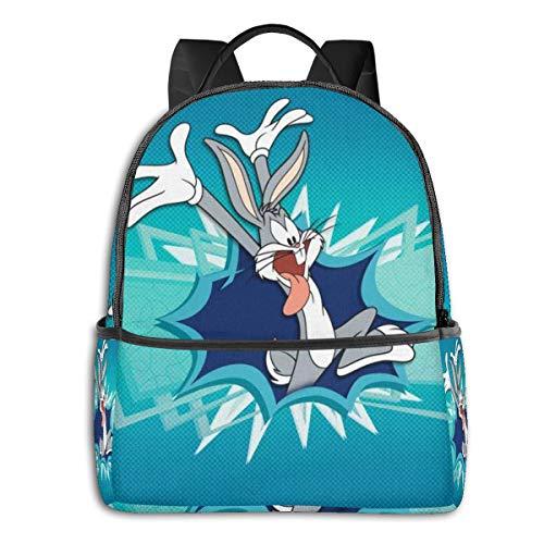 Bugs Bunny - Mochila para Estudiantes, Unisex, diseño de Dibujos Animados, 14,5 x 30,5 x 12,7 cm
