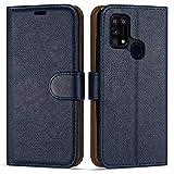 Hülle Collection Hochwertige Leder hülle für Samsung Galaxy M31 Hülle (6,4