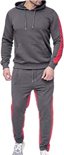 Men's 2 Pieces Tracksuit Set Hooded Polluver Sweatshirt Jogging Pants