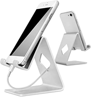 Stand for Phone, HOTOR Cell Phone Stand, Cradle, Dock, Holder, Stand for Switch, All Android Smartphone and for Phone XS Max XR 8 X 7 6 6s Plus 5 5s 5c Charging, Universal Accessories Desk –Silver