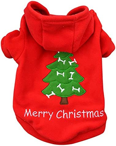 Ollypet Small Dog Hoodie Xmas Red Christmas Apparel Clothes Discount is Max 68% OFF also underway Pet
