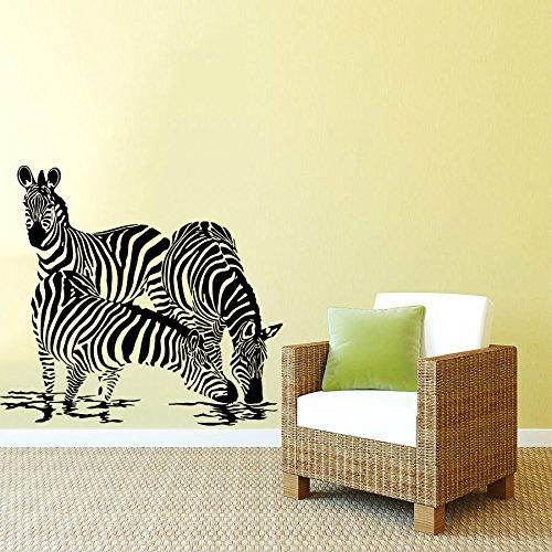 Wandtattoo Zebra Safari Afrika Pferd Tier Fototapete Vinyl Aufkleber Schlafzimmer Dekoration für Zuhause Badezimmer Kinderzimmer Wandsticker Wandbilder Wandaufkleber