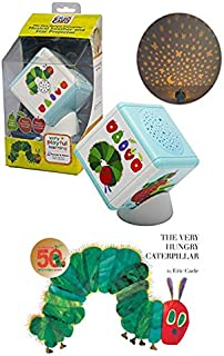 Whats He Going to Eat Next? The Eric Carle The Very Hungry Caterpillar Baby Pack - The Very Hungry Caterpillar Board Book + Portable Soother & Projector Night Light
