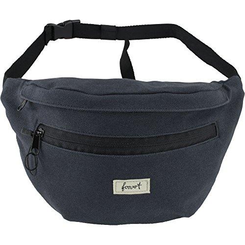 FORVERT Unisex Bag Chris größenverstellbarer Hüftbeutel mit zusätzlichem Stickbag auf der Innenseite, blau (Navy)