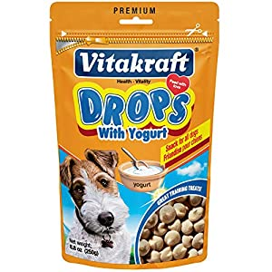 Vitakraft Drops with Yogurt Treats for Dogs, Bite-Sized Training Snacks, 8.8 Ounce Pouch