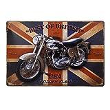 Ndier - Placa de metal de estaño para pared, 20 x 30 cm, diseño vintage