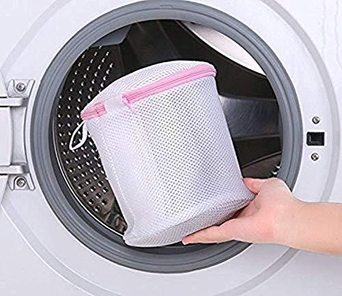 Lukzer 1 PC Double Laundry Lingerie Bra Bag with Zipper Mesh Undergarments Organiser Wash Bag for Washing Machine