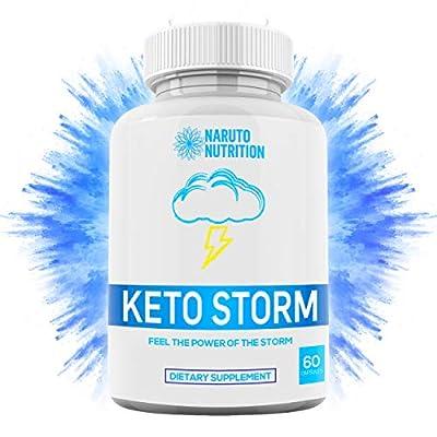 Keto Storm Diet Capsules – [10X Weight Loss Formula] Shark Tank Blend w/Apple Cider Vinegar, Green Tea, Ketones, Kelp - 1200mg Blend to Burn Fat, Support Ketosis, Boost Energy & Enhance Focus – 60 Ct