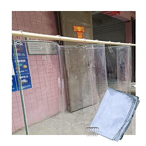 YJFENG Lonas Transparente Impermeable, Panel Lateral De Pérgola Cortina De Partición De PVC, Lona De Vinilo De 0,3 Mm Cubierta Impermeable para Muebles/Nido De Mascotas/Techo, con Ojales