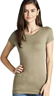 StyLeUp Women's Short Sleeve Crew Neck T-Shirt