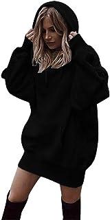 125b79699fc4a3 Riou Damen Kapuzenpullover Hoodie Pullover,Frauen Elegante Blusen Oberteil  Sweatshirt Langarmshirt Outerwear Frauen Einfarbig Kleidung