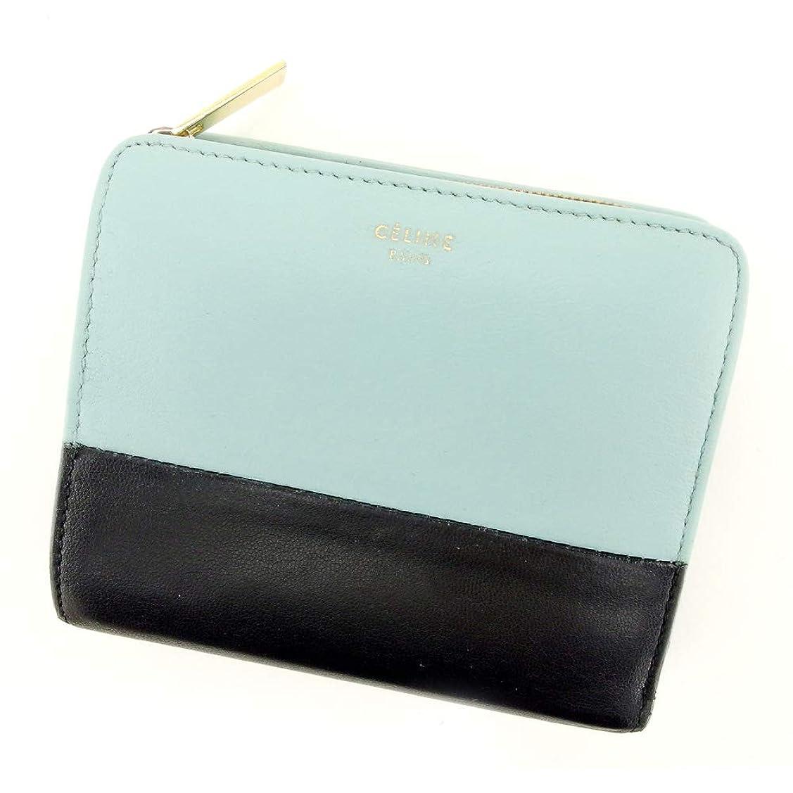 後継チャペルステージ[セリーヌ] Celine 二つ折り 財布 財布 レディース メンズ バイカラー 中古 T9413