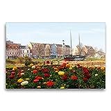 Premium Textil-Leinwand 75 cm x 50 cm quer Cuxhaven an der
