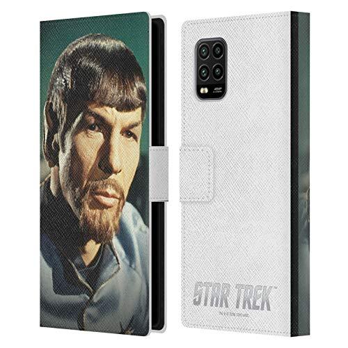 Head Case Designs Oficial Star Trek Espejo Spock Carcasa de Cuero Tipo Libro Compatible con Xiaomi Mi 10 Lite 5G