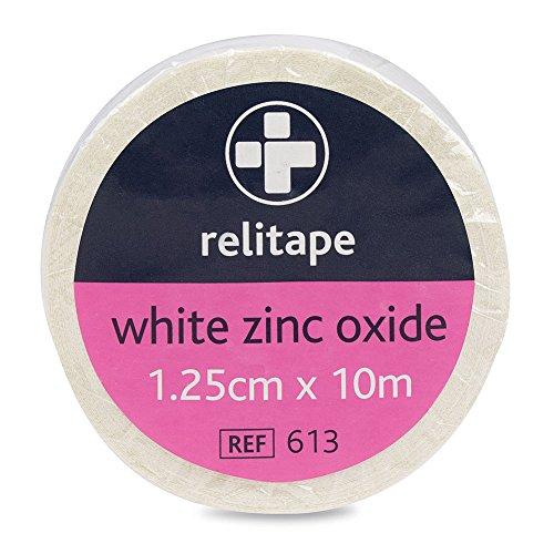 Reliance Medical 1000 x 1,25 cm Blanc relitape oxyde de zinc Ruban adhésif