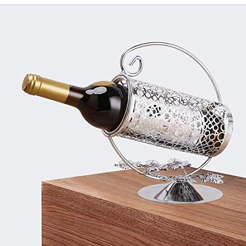 HJXSXHZ366 Estantería de Vino Vino del Metal Independiente Soporte de exhibición de la Botella de Vino en Rack, encimera Marco Estante del Vino for la Barra/de la Familia, Oro Estante de Vino pequeño