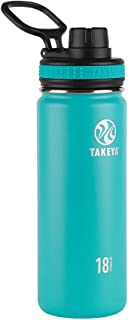 Takeya ThermoFlask Insulated Stainless Steel Water Bottle, 18 oz, Ocean by Takeya