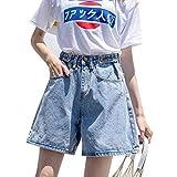 NoBrand Vintage Denim Shorts Femmes Été Jeans Taille Haute Short Femmes Jambes Larges Shorts pour Femmes Vintage Jeans Court
