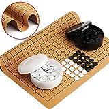 Go Game Set, 361PCS Weiqi, Juego de Viaje Educativo de Tablero de ajedrez Plegable, fácil de Transportar y almacenar, para niños, Principiantes, Juegos, etc.