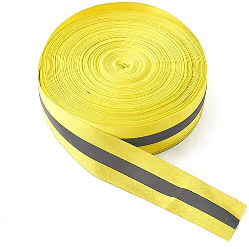 Cinta reflectante de alta visibilidad, tela fluorescente, cinta de seguridad reflectante para coser, advertencia de seguridad