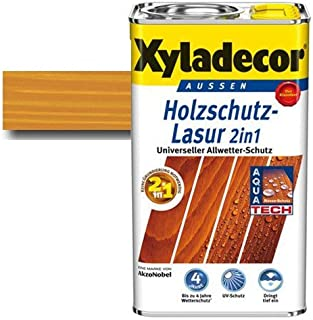 Xyladecor Holzschutz-Lasur 2 in 1 Palisander 5 l - Wetterschutz   farbbeständig   Dünnschicht-Lasur