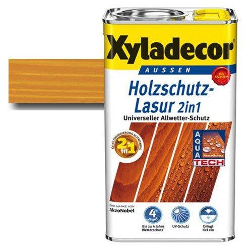 Xyladecor® Holzschutz-Lasur 2 in 1 Palisander 2,5 l - Wetterschutz   farbbeständig   Dünnschicht-Lasur