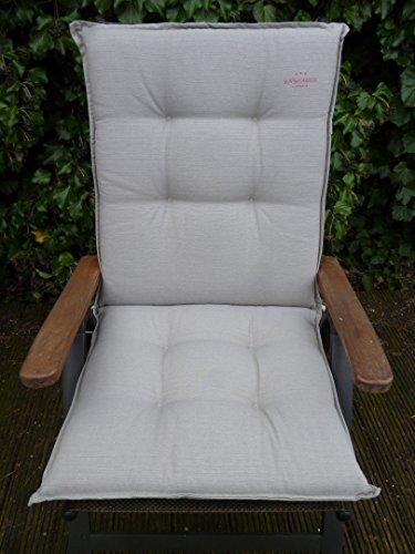 2 Stück SUN GARDEN Niedriglehner Auflage Inco ca. 105x50x8 cm Dessin 50215-621 Farbe Taupe (nur Auflagen ohne Stühle)